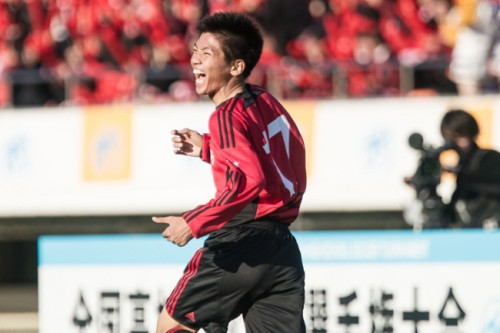 決勝点を挙げた駒澤大高MF竹上、MVP級の活躍で示した3年生の想い
