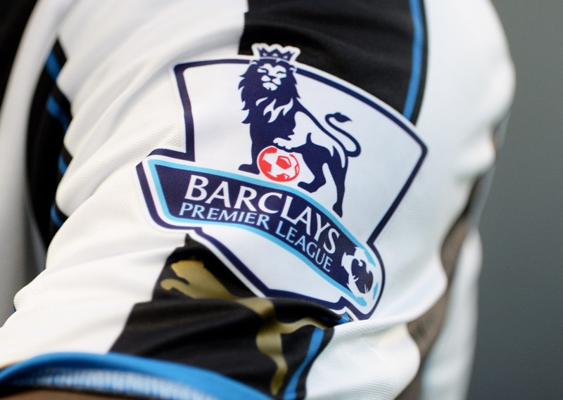 MANCHESTER, ENGLAND - AUGUST 19:  The Barclays Premier League logo is seen on the Newcastle United kit during the Barclays Premier League match between Manchester City and Newcastle United at the Etihad Stadium on August 19, 2013 in Manchester, England.  (Photo by Michael Regan/Getty Images)