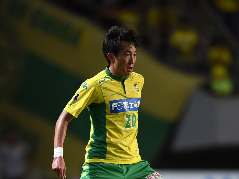 CHIBA, JAPAN - JULY 12:  (EDITORIAL USE ONLY) Kim Hyun-Hun of JEF United in action during the J.League second division match between JEF United Chiba and Thespa Kusatsu Gunma at Fukuda Denshi Arena on July 12, 2015 in Chiba, Japan.  (Photo by Etsuo Hara/Getty Images)