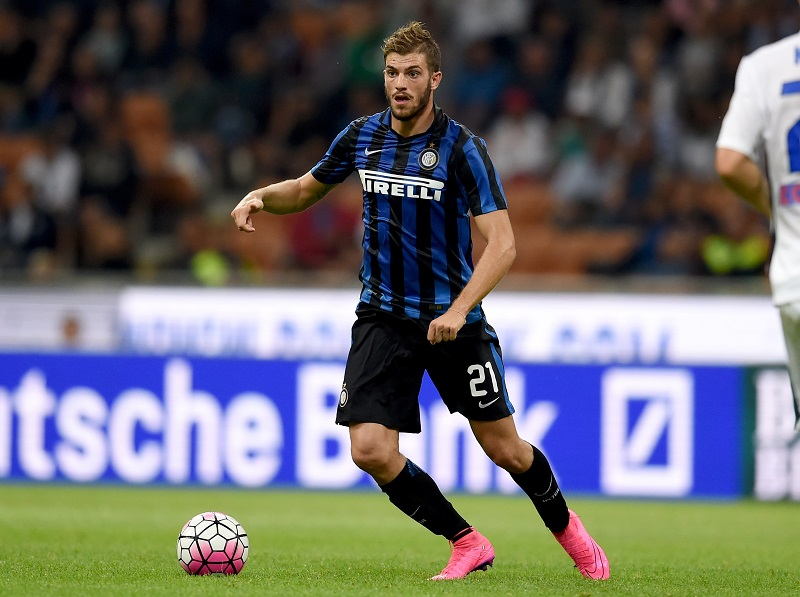 during the Serie A match between FC Internazionale Milano and Atalanta BC at Stadio Giuseppe Meazza on August 23, 2015 in Milan, Italy.