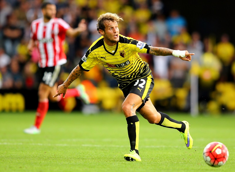 WATFORD, ENGLAND - AUGUST 23:  during the Barclays Premier League match between Watford and Southampton at Vicarage Road on August 23, 2015 in Watford, United Kingdom.  (Photo by Richard Heathcote/Getty Images)