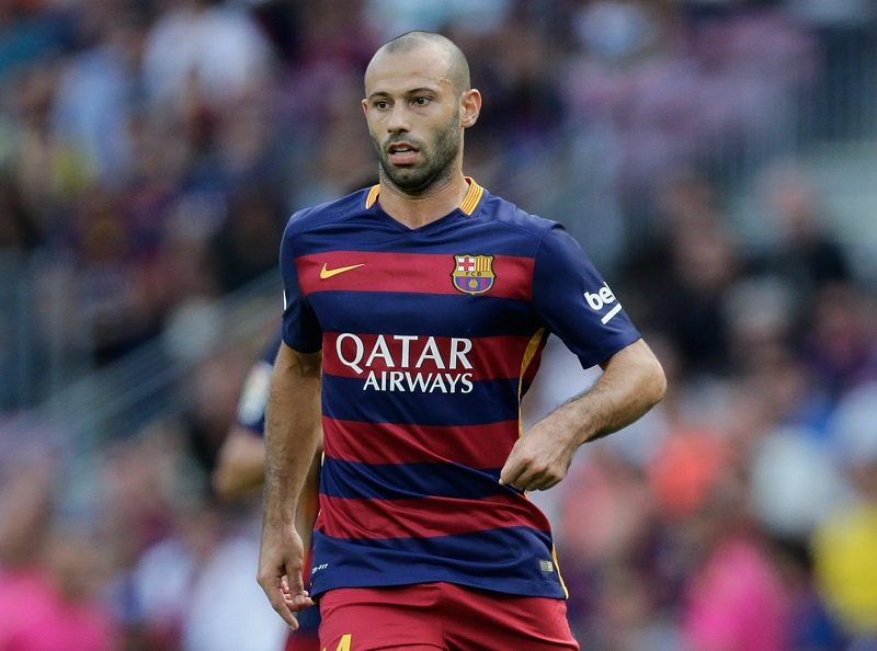 Javier Mascherano of FC Barcelona during the Primera Division match between FC Barcelona and Las Palmas on September 26, 2015 at Camp Nou stadium in Barcelona, Spain.(Photo by VI Images via Getty Images)
