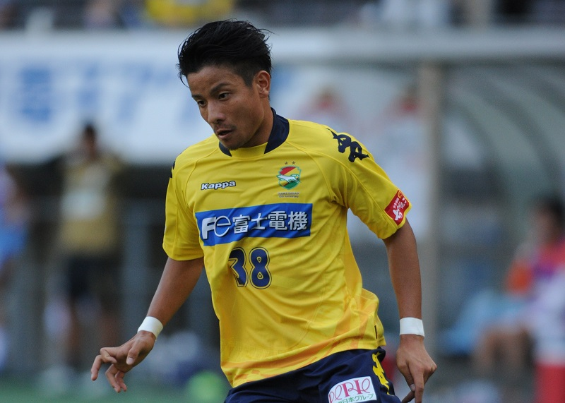 CHIBA, JAPAN - OCTOBER 04:  (EDITORIAL USE ONLY) Riki Matsuda of JEF United Chiba in action during the J.League Division2 match between JEF United Chiba and Efime FC at Fukuda Denshi Arena on October 4, 2015 in Chiba, Japan.  (Photo by Masashi Hara/Getty Images)