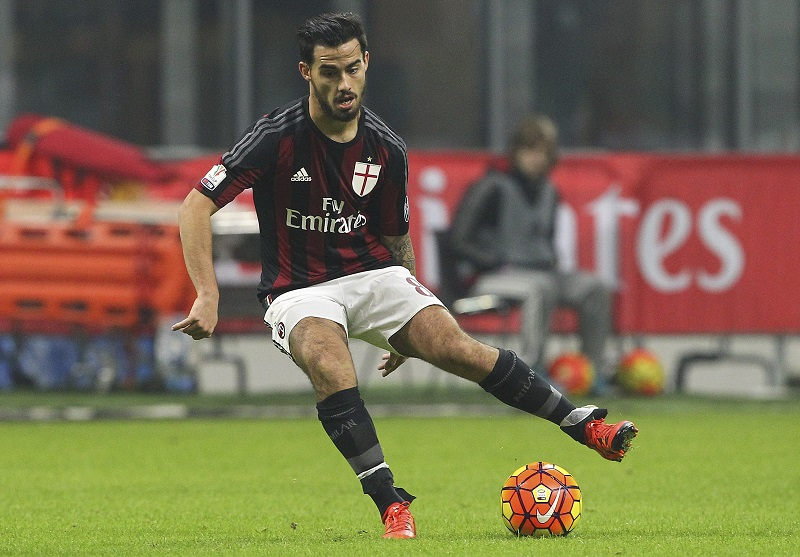 during the TIM Cup match between AC Milan and FC Crotone at Stadio Giuseppe Meazza on December 1, 2015 in Milan, Italy.