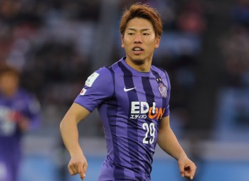 YOKOHAMA, JAPAN - DECEMBER 20:  Takuma Asano of Sanfrecce Hiroshima during the  FIFA Club World Cup 3rd Place Match between Sanfrecce Hiroshima and Guangzhou Evergrande FC at International Stadium Yokohama on December 20, 2015 in Yokohama, Japan.  (Photo by Matthew Ashton - AMA/Getty Images)