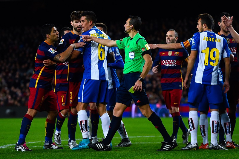 <> at Camp Nou on January 6, 2016 in Barcelona, Spain.