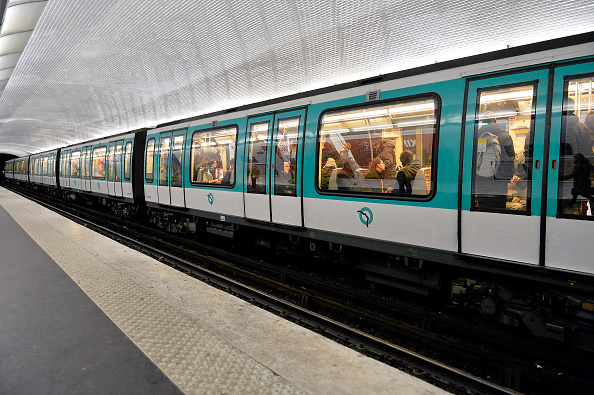 PARIS, FRANCE - JANUARY 08:  A train is at the platform as people observe a one minute of silence in the metro station the day after the terrorist attack at Charlie Hebdo on January 8, 2015 in Paris, France.  Twelve people were killed including two police officers as two gunmen opened fired at the offices of the French satirical publication Charlie Hebdo on January 7.  (Photo by Aurelien Meunier/Getty Images)
