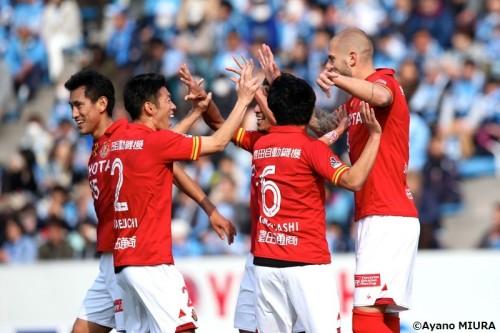 名古屋が新加入シモビッチの得点で磐田との開幕戦制す…小倉監督初勝利