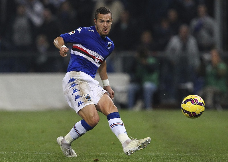 GENOA, ITALY - NOVEMBER 08:  Djamel Mesbah of UC Sampdoria in action during the Serie A match between UC Sampdoria and AC Milan  at Stadio Luigi Ferraris on November 8, 2014 in Genoa, Italy.  (Photo by Marco Luzzani/Getty Images)