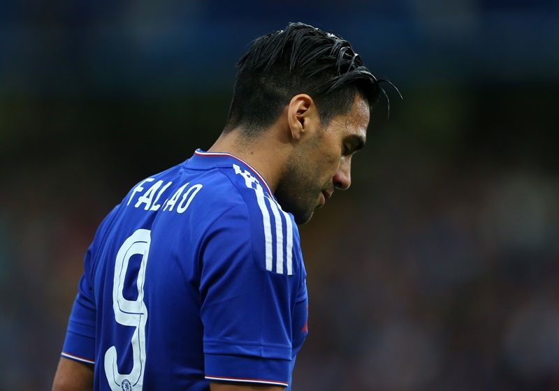 LONDON, ENGLAND - AUGUST 03:  A dejected looking Radamel Falcao of Chelsea during the pre-season friendly between Chelsea and Fiorentina at Stamford Bridge on August 5, 2015 in London, England.  (Photo by Catherine Ivill - AMA/Getty Images)