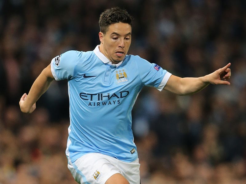 MANCHESTER, ENGLAND - SEPTEMBER 15:  Samir Nasri of Manchester City during the UEFA Champions League Group D match between Manchester City FC and Juventus at the Etihad Stadium on September 15, 2015 in Manchester, United Kingdom.  (Photo by Matthew Ashton - AMA/Getty Images)