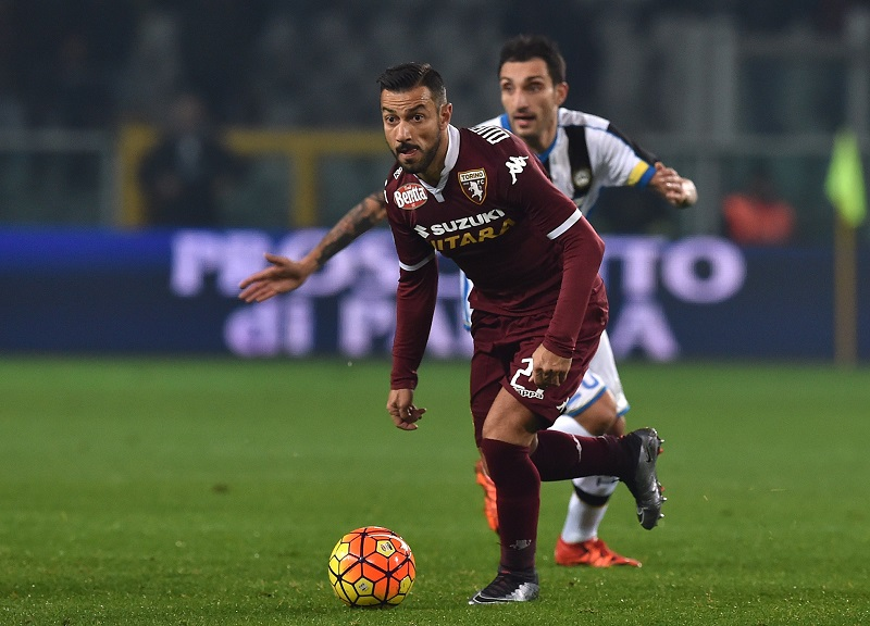 during the Serie A match between Torino FC and Udinese Calcio at Stadio Olimpico di Torino on December 20, 2015 in Turin, Italy.