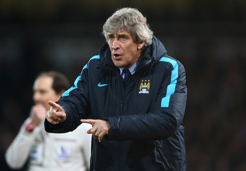 during the Barclays Premier League match between West Ham United and Manchester City at the Boleyn Ground on January 23, 2016 in London, England.
