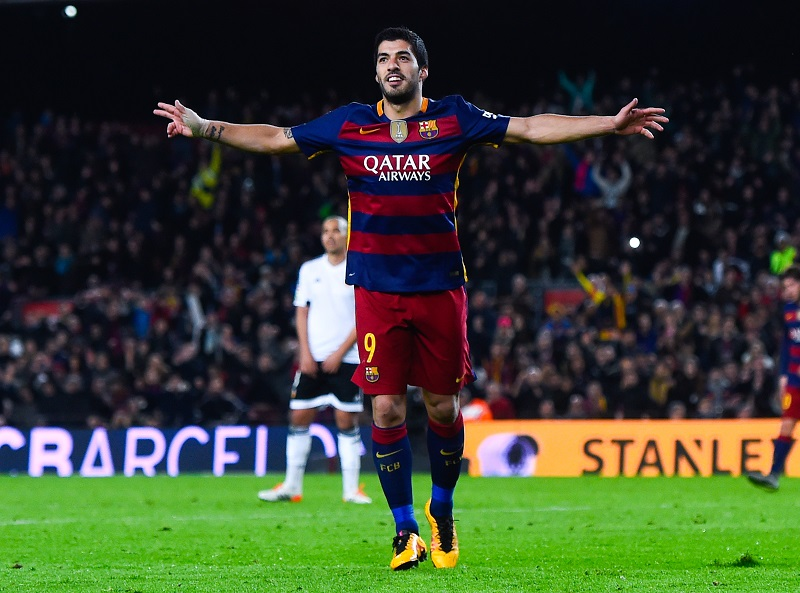 <> at Nou Camp on February 3, 2016 in Barcelona, Spain.
