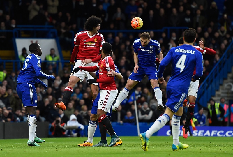 during the Barclays Premier League match between Chelsea and Manchester United at Stamford Bridge on February 7, 2016 in London, England.