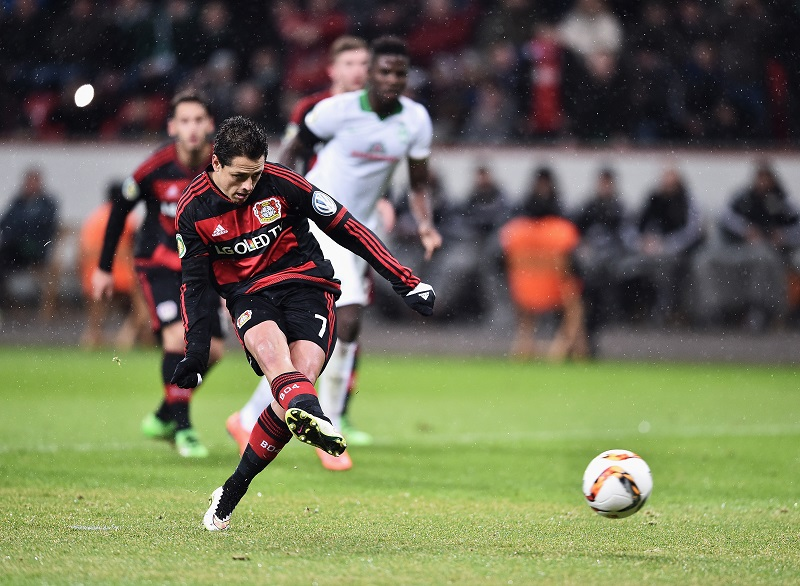 during the DFB Cup Quarter Final match between Bayer Leverkusen and Werder Bremen at BayArena on February 9, 2016 in Leverkusen, Germany.