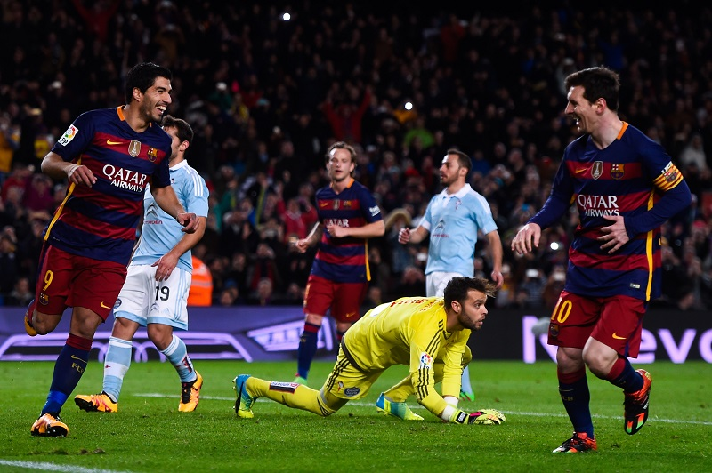 <> at Camp Nou on February 14, 2016 in Barcelona, Spain.