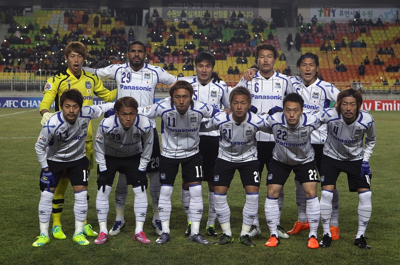 during the AFC Champions League Group G match between Suwon Samsung Bluewings FC and Gamba Osaka at Suwon World Cup Stadium on February 24, 2016 in Suwon, South Korea.