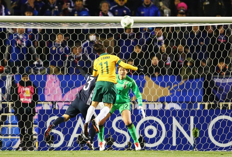 xxx during the AFC Women's Olympic Final Qualification Round match between Australia and Japan at Kincho Stadium on February 29, 2016 in Osaka, Japan.