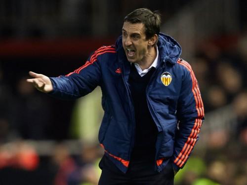就任から4カ月で…リーガ14位のバレンシア、ネヴィル監督との契約解除