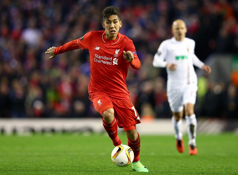 during the UEFA Europa League Round of 32 second leg match between Liverpool and FC Augsburg at Anfield on February 25, 2016 in Liverpool, United Kingdom.