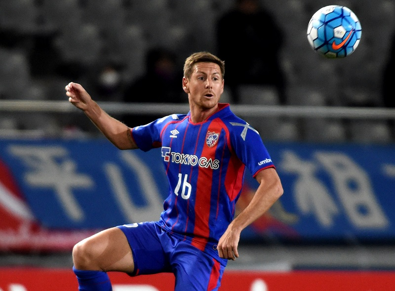 TOKYO, JAPAN - MARCH 01:  Nathan Burns #16 of FC Tokyo in action during the AFC Champions League Group E match between FC Tokyo and Becamex Binh Duong at Tokyo Stadium on March 1, 2016 in Tokyo, Japan.  (Photo by Masashi Hara/Getty Images)