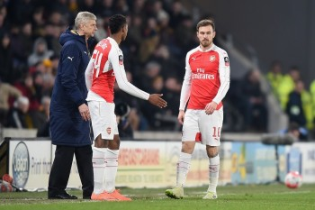 during the Emirates FA Cup Fifth Round Replay match between Hull City and Arsenal at KC Stadium on March 8, 2016 in Hull, England.