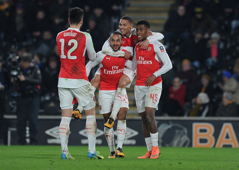 HULL, ENGLAND - MARCH 8: of Arsenal during the Emirates FA Cup 5th Round replay between Hull City and Arsenal at the KC Stadium on March 8, 2016 in Hull, England. (Photo by Stuart MacFarlane/Arsenal FC via Getty Images)