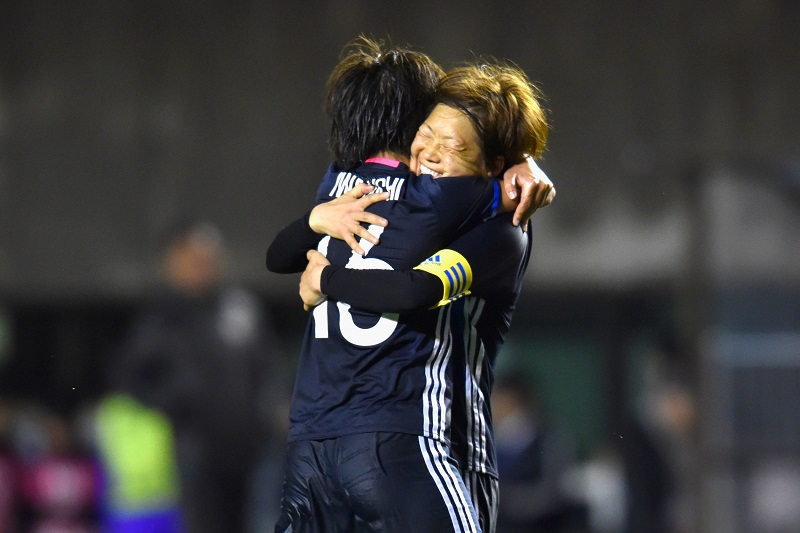 xxx during the AFC Women's Olympic Final Qualification Round match between Japan and North Korea at Kincho Stadium on March 9, 2016 in Osaka, Japan.