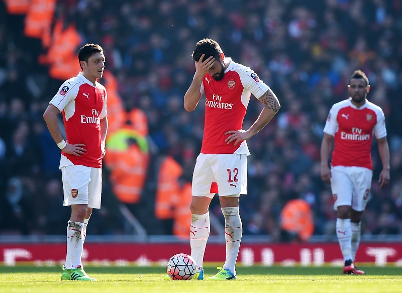 during the Emirates FA Cup sixth round match between Arsenal and Watford at Emirates Stadium on March 13, 2016 in London, England.