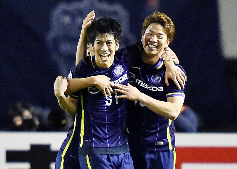 during the AFC Champions League match between Sanfrecce Hiroshima and Buriram United on March 16, 2016 in Hiroshima, Japan.