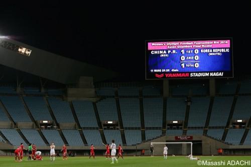 中国が勝利、なでしこジャパンの予選敗退決定…4大会ぶりに五輪出場逃す