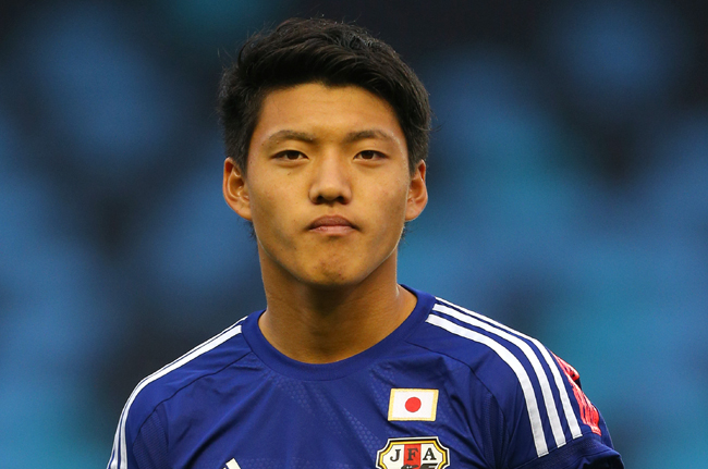 MANCHESTER, ENGLAND - NOVEMBER 15: Ritsu Doan of Japan during the U19 International friendly match between England and Japan at Manchester City Academy Stadium on November 15, 2015 in Manchester, England. (Photo by Dave Thompson/Getty Images)