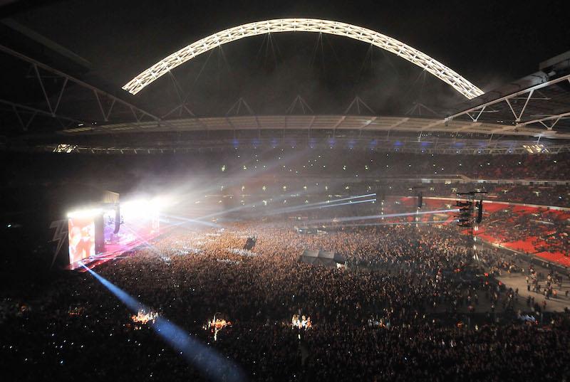 """イングランドの""""聖地""""ウェンブリー・スタジアム。サッカーだけではなく、アメフトの試合やライブなどのイベントも行われる [写真]=Getty Images"""