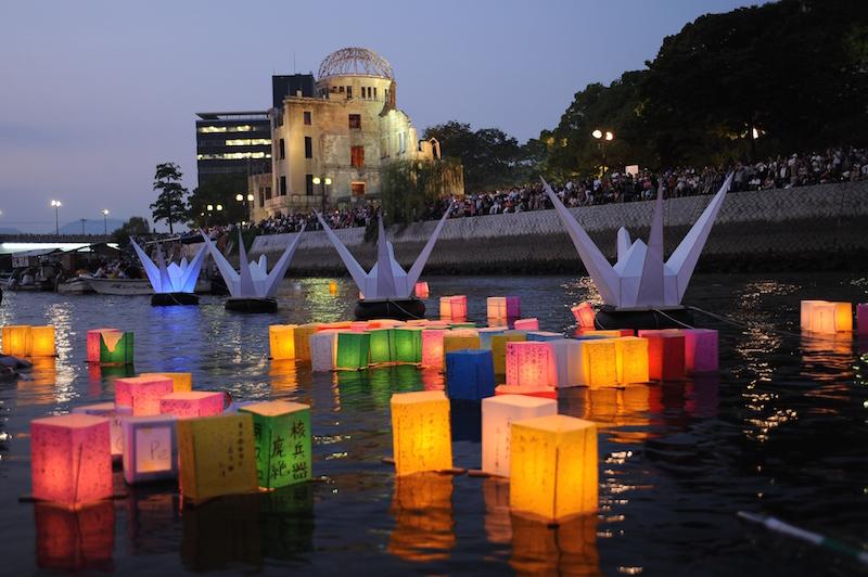 旧広島市民球場跡地の向かいにある原爆ドーム [写真]=Getty Images