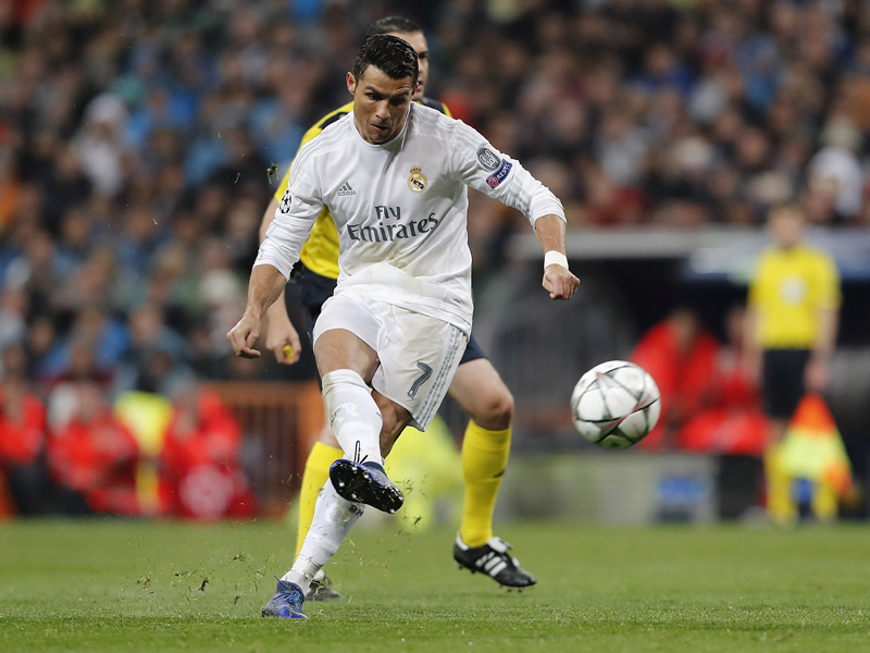 直接FKで3点目を決めたC・ロナウド [写真]=Real Madrid via Getty Images