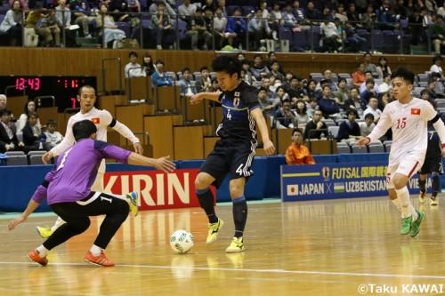 ●有言実行のデビュー戦初ゴールを決めたFP安藤良平「プレッシャーを楽しめた」