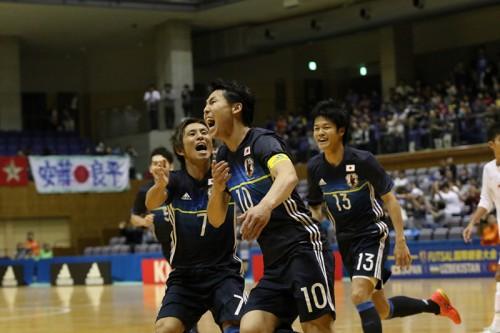 勝利にこだわったフットサル日本代表、ベトナムに大勝でアジア選手権の借りを返す