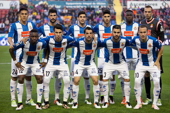 Espanyol team during La Liga match between Levante UD and