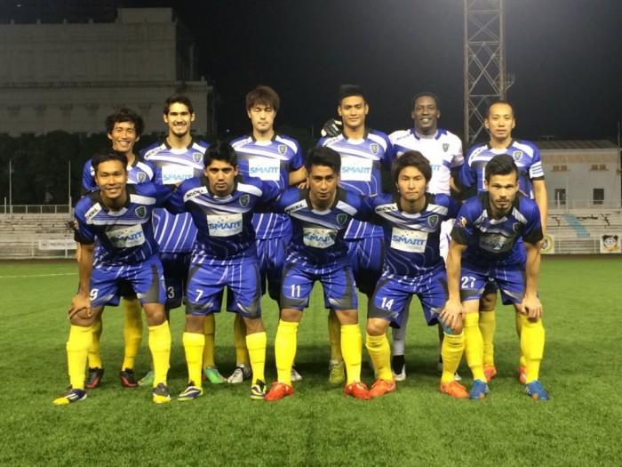 グローバルFCは昨年のシンガポールカップに招待出場し、ベスト4の好成績を残した。写真後列右端の星出選手をはじめ、5人の日本出身選手を擁していた。(写真提供:大友慧)