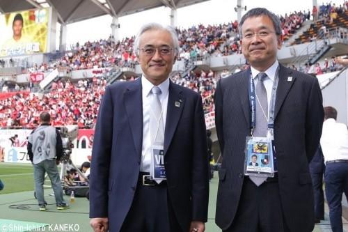 明治安田生命の従業員約500名が熊本を応援…根岸社長「サッカーっていい」