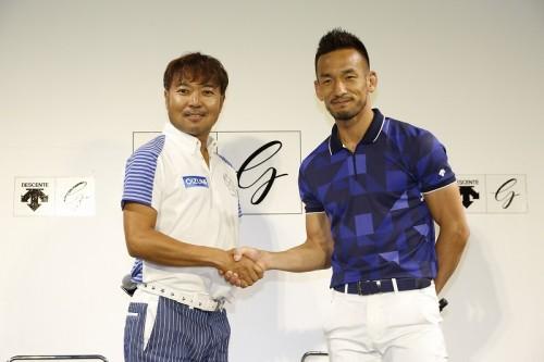 ゴルフ挑戦中の中田英寿氏が片山晋呉プロとマッチプレーで対決