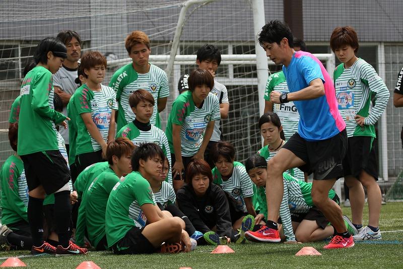 【レポート】元陸上選手、秋本真吾氏が日テレ・ベレーザの選手達に「足が速くなる」レシピを伝授!