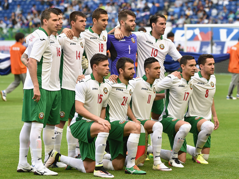 ブルガリア代表の先発メンバー [写真]=Getty Images