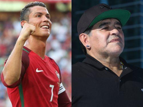 マラドーナ氏、ユーロ最注目はC・ロナウド「彼はサッカー界の財産」