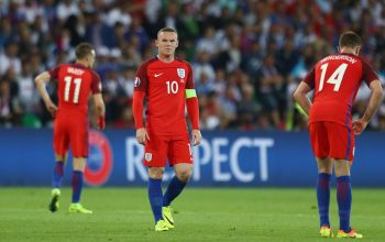 SAINT-ETIENNE, FRANCE - JUNE 20: Wayne Rooney of England is seen during the UEFA EURO 2016 Group B match between Slovakia and England at Stade Geoffroy-Guichard on June 20, 2016 in Saint-Etienne, France.  (Photo by Julian Finney/Getty Images)