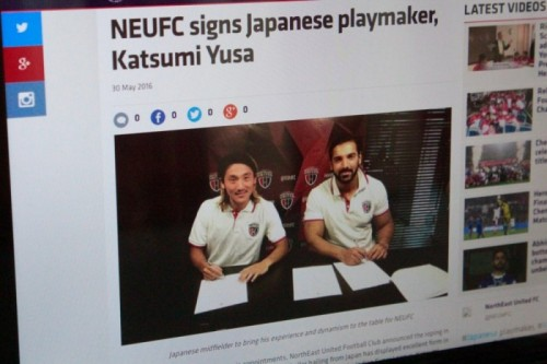 日本人初のインドスーパーリーガーが誕生!