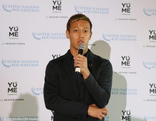 """""""教育者""""本田が米ワシントンでスピーチ…「夢を持つこと」の重要さを説く"""