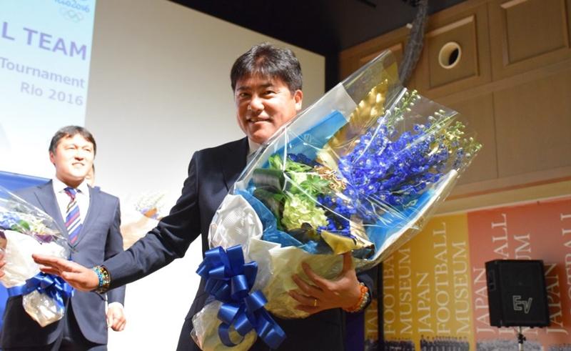 手倉森監督は「勝ってきます!」と力強く宣言し会場を後にした