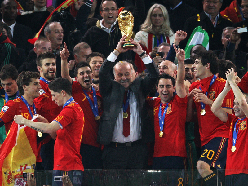 2010年の南アフリカW杯を制した [写真]=FIFA via Getty Images
